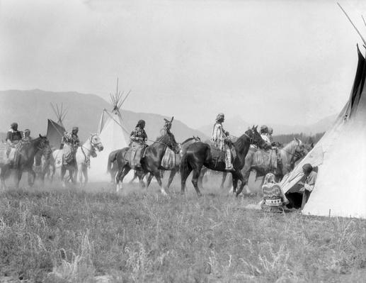 Native American Indian Tribe In Tipi Teepee Village | Native American Civilizations | U.S. History