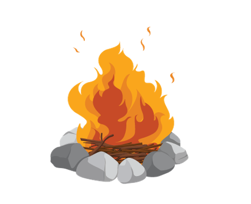 Various Objects of Camping - Campfire | Clipart