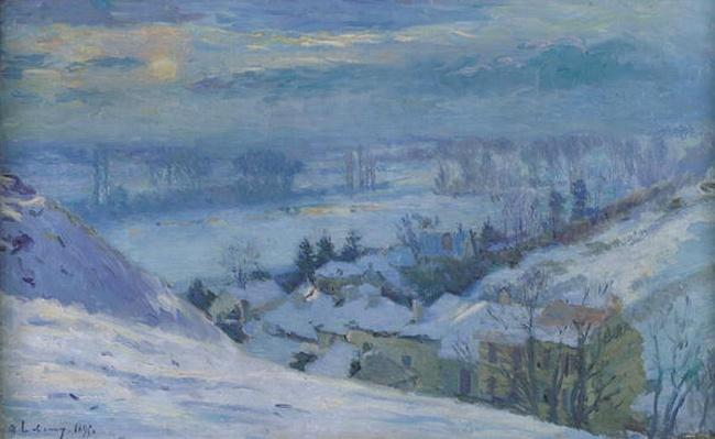 The Village of Herblay under snow, 1895