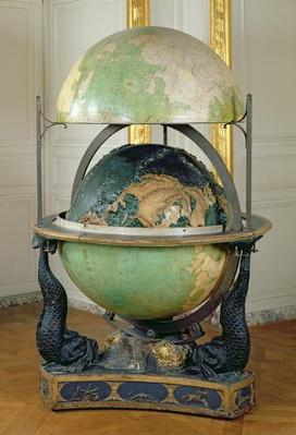 Terrestrial and celestial globe ordered by Louis XVI
