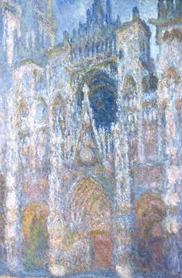 Rouen Cathedral, Blue Harmony, Morning Sunlight, 1894
