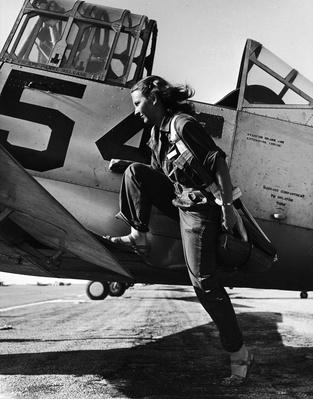 Female pilot of the US Women's Air Force Service p | World War II