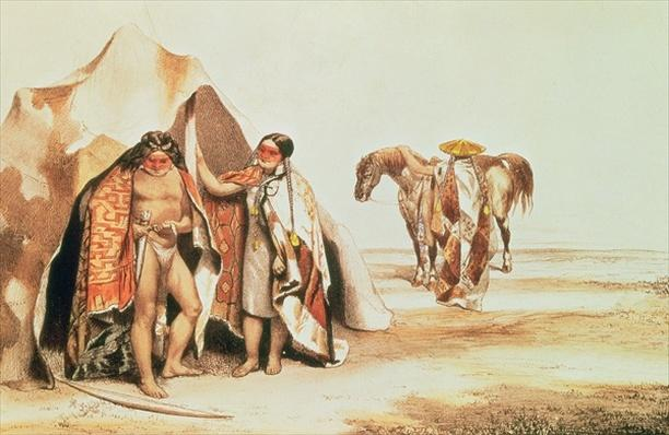 Patagonian Indians, engraved by Emile Lassalle, c.1830