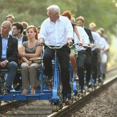 Minister Steinmeier Visits Brandenburg | Evolution of the Railroad (Engine)