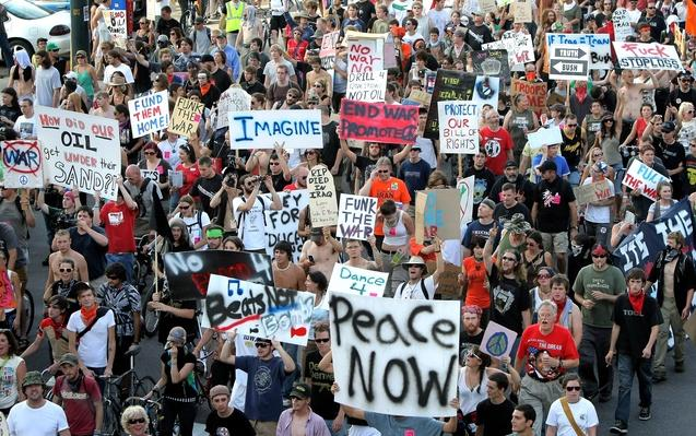 Activists Protest At Democratic National Convention | U.S. Presidential Elections 2008