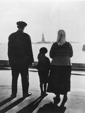 Family Views Statue Of Liberty From Ellis Island | U.S. Immigration | 1840's to present | U.S. History