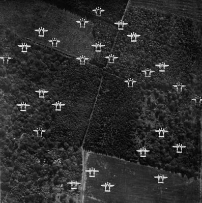 Squadron Of P-38 Lightnings In Flight | World War II