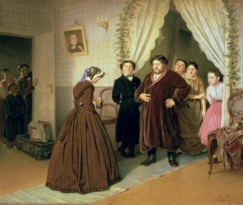 The Governess Arriving at the Merchant's House, 1866