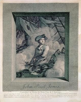 Portrait of John Paul Jones, engraved by Carl Guttenberg