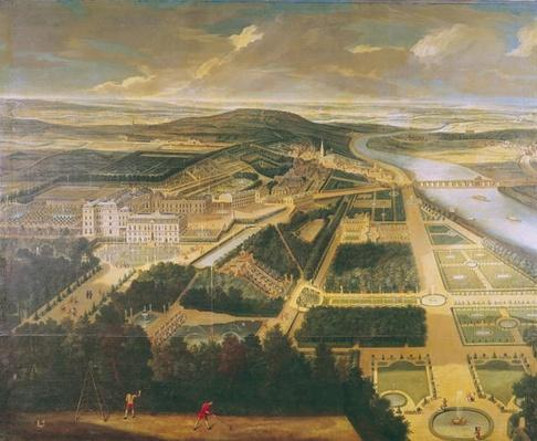 View of the Chateau and Gardens of St. Cloud,