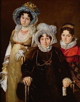 Portrait of Madame de Tangry and her Daughters, after 1816