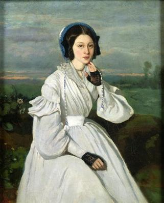 Portrait of Louise Claire Sennegon, future Madame Charmois, 1837