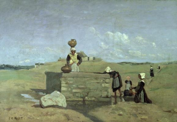 Breton Women at the Well near Batz, c.1842