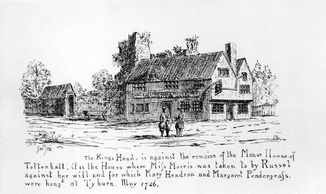 The King's Head is against the remains of the Manor House of Tottenhall
