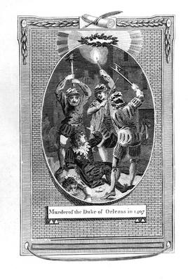 Murder of the Duke of Orleans in 1407, c.1750