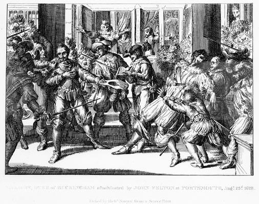The Assassination of George Villiers, 1st Duke of Buckingham, c.1822