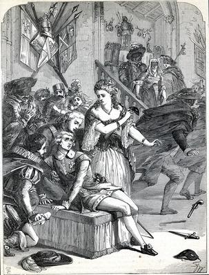 Assassination of Gustavus II by Ankerstrom at a masked ball, 1792