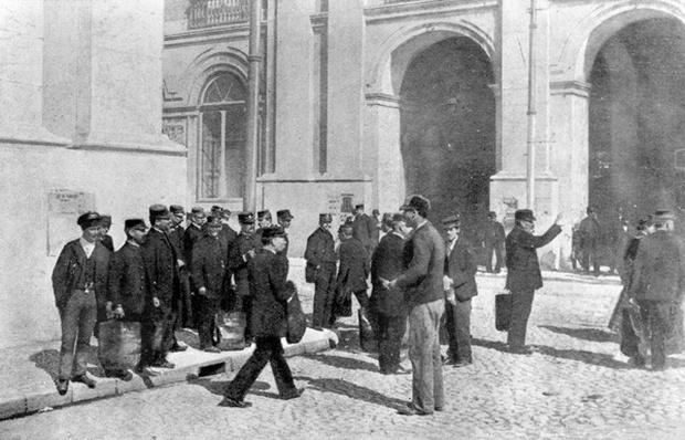 Scene of the assassination of the Archduke Franz Ferdinand and his wife Sophie, Duchess of Hohenberg, 1914