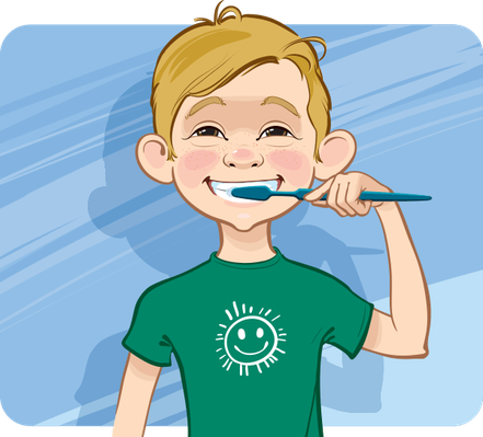 Boy cleaning his teeth | Health and Nutrition