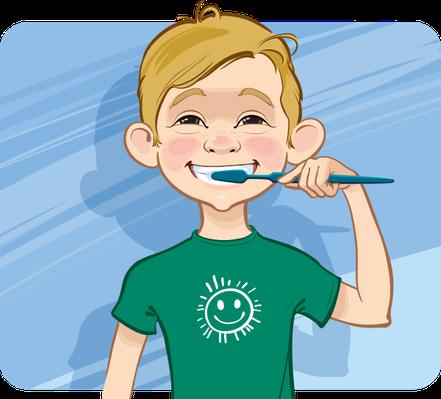 Cartoon Boy Brushing Teeth | Health and Nutrition | Social ...