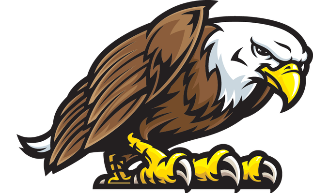Eagle Mascot Fight Stance | Clipart