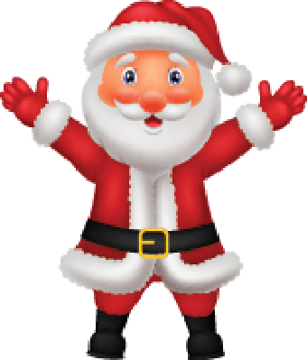 Cute Santa Cartoon Waving Hand | Clipart