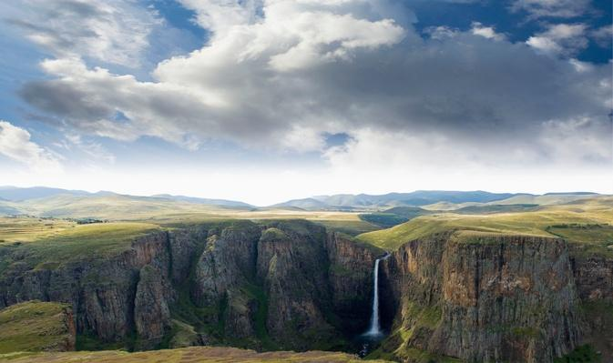Maletsunyane Falls and Gorge Panorama Stitch | Earth's Surface