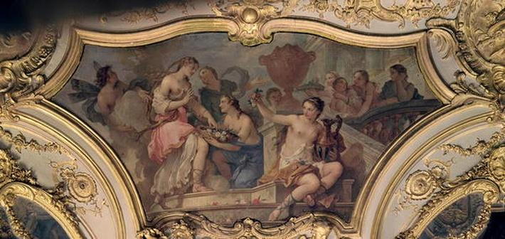 Decorative panel from the Oval Salon illustrating the Story of Psyche, 1732-39