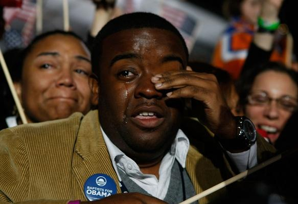 Barack Obama Holds Election Night Gathering In Chicago's Grant Park | U.S. Presidential Elections 2008