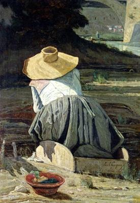 Washerwoman by the River, 1860
