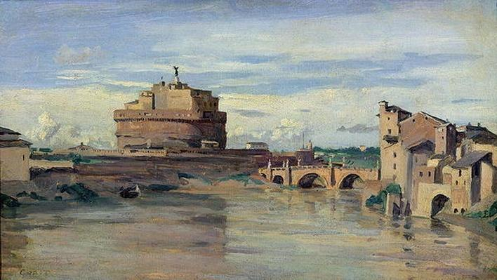 Castel Sant' Angelo and the River Tiber, Rome