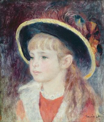 Portrait of a Young Girl in a Blue Hat, 1881