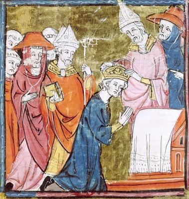 f.106r The Coronation of Emperor Charlemagne