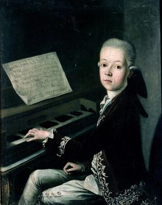 Portrait of Carl Graf Firmian at the piano, formerly thought to be Wolfgang Amadeus Mozart
