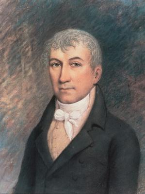 Portrait of James Monroe (1758-1831) (pastel on paper) by American School, (19th century)