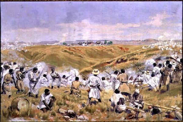 The Battle of Tsaratsora, Madagascar, 1st July 1895