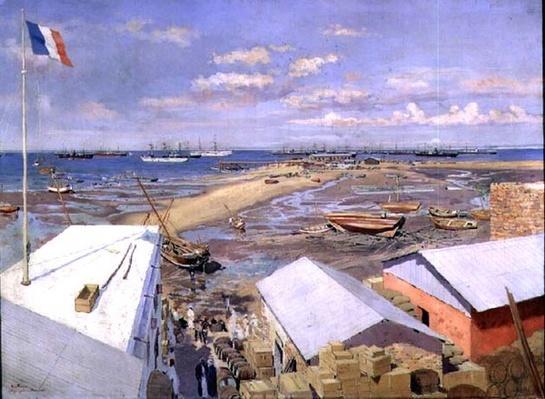 The Landing at Majunga, 15th May 1895