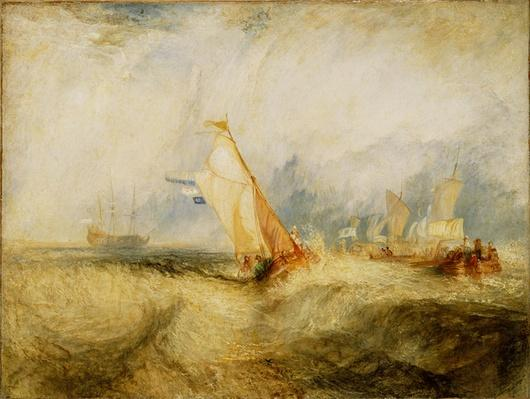 Van Tromp Going About to Please His Masters - Ships a Sea Getting a Good Wetting, 1844
