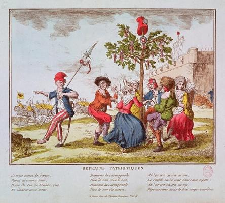 Patriotic Refrains: French revolutionaries dancing the carmagnole around the tree of Liberty, c.1792