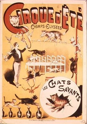 Poster advertising the Cirque d'Ete in the Champs Elysees, late 19th century