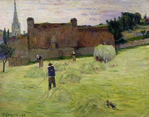 Haymaking in Brittany, 1888