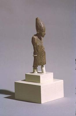 Figure of a King wearing the White Crown of Upper Egypt and the cloak of the Sed-festival, from the Temple of Osiris, Abydos, Early Dynastic period, c.3000 BC