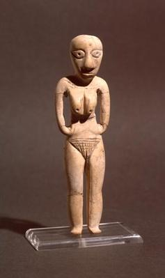Figurine of a naked woman, from the Badarian or early Neolithic period, c.4000 BC