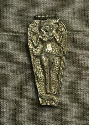 Pendant depicting Astarte, goddess of fertility, 14th century BCE