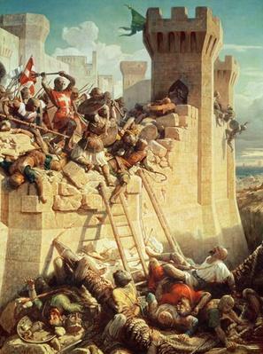 Guillaume de Clermont defending Ptolemais