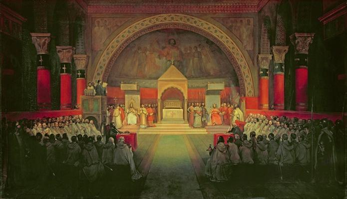 The Chapter of the Order of the Templars held at Paris, 22nd April 1147, 1844