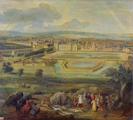 View of the Palace of Fontainebleau from the Parterre of the Tiber, 1722