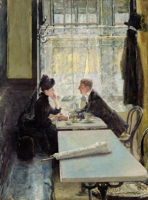 Lovers in a Cafe