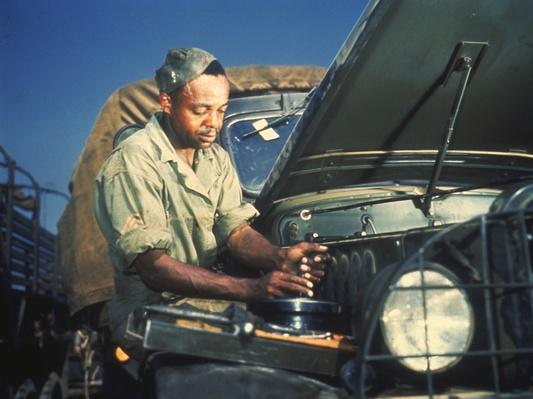 Army Mechanic at Work | African-American History