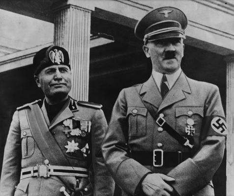 Portrait of Benito Mussolini and Adolf Hitler | World War II